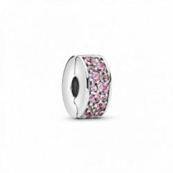 Clip Elegancia Rosa Brillante Pandora - 791817PCZ