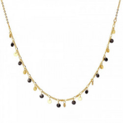 Anartxy Collar Multi piedras negro - COA725N