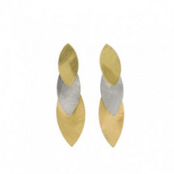 Salvatore Plata Pendientes Bamboo - 203A0196