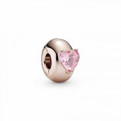 Pandora Clip Rose Corazón Solitario Rosa - 789203C01