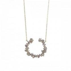 Colgante plata de ley 925 DIAMONFIRE circonita y perla