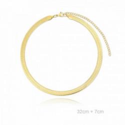 Choker Acero Dorado Snake - 230424