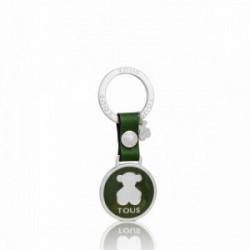 Tous Llavero Circle Bear Plate Verde Botella - 495970257