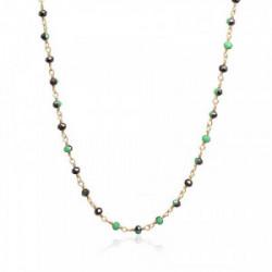 Anartxy Collar Piedras Verde Negro - BCO172AT